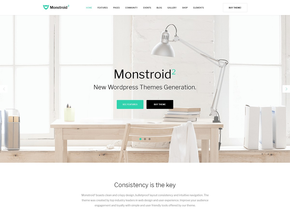 Monstroid2 WordPress website template