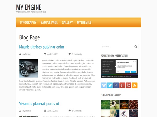 my engine best WordPress magazine theme