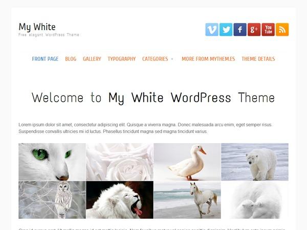 my white best WordPress magazine theme