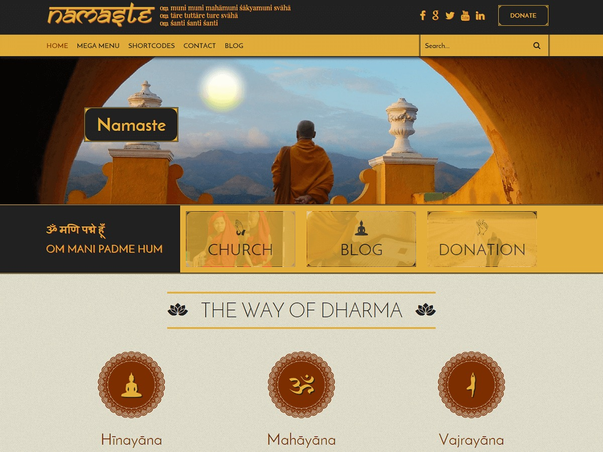 Namaste Lite free WordPress theme