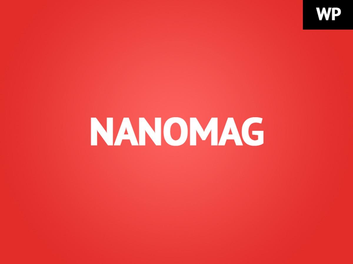 Nanomag WordPress magazine theme