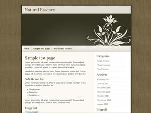Natural Essence WordPress website template