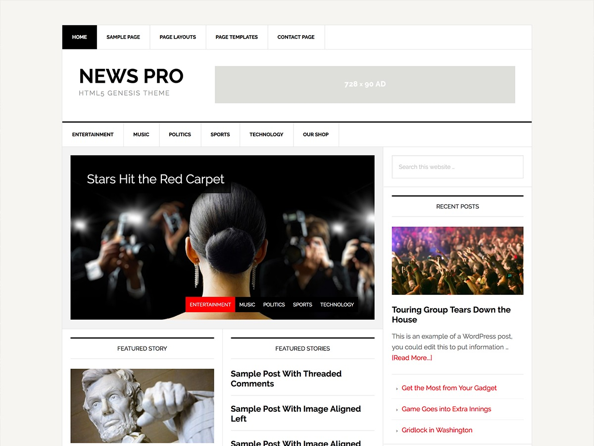 News Pro newspaper WordPress theme