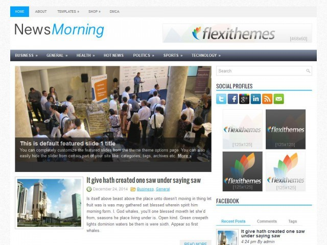 NewsMorning WordPress news theme