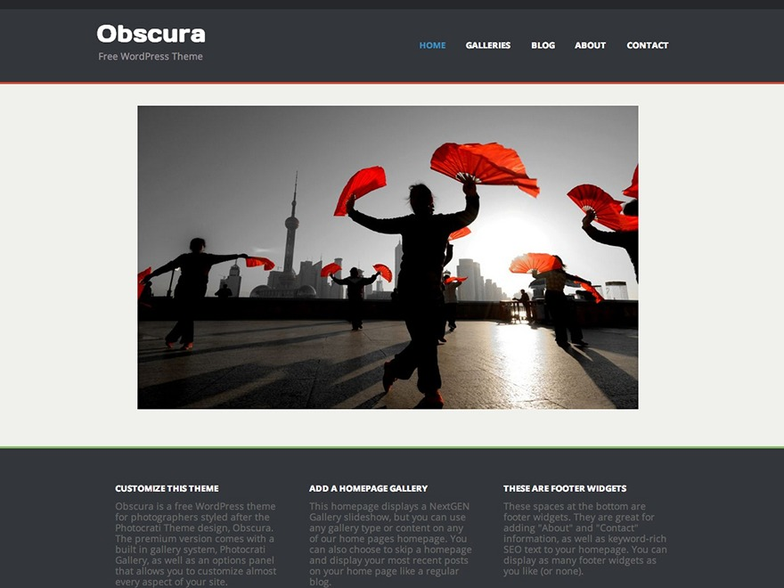 Obscura WordPress photo theme