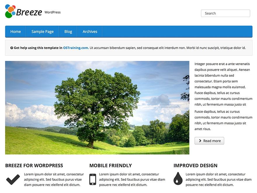 OSTraining Breeze WordPress template free