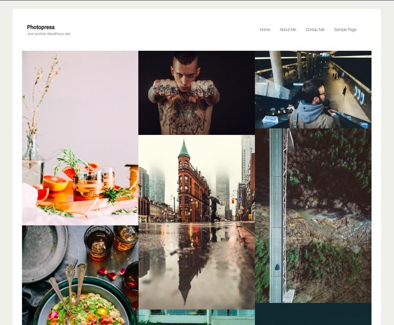 PhotoPress free WordPress theme