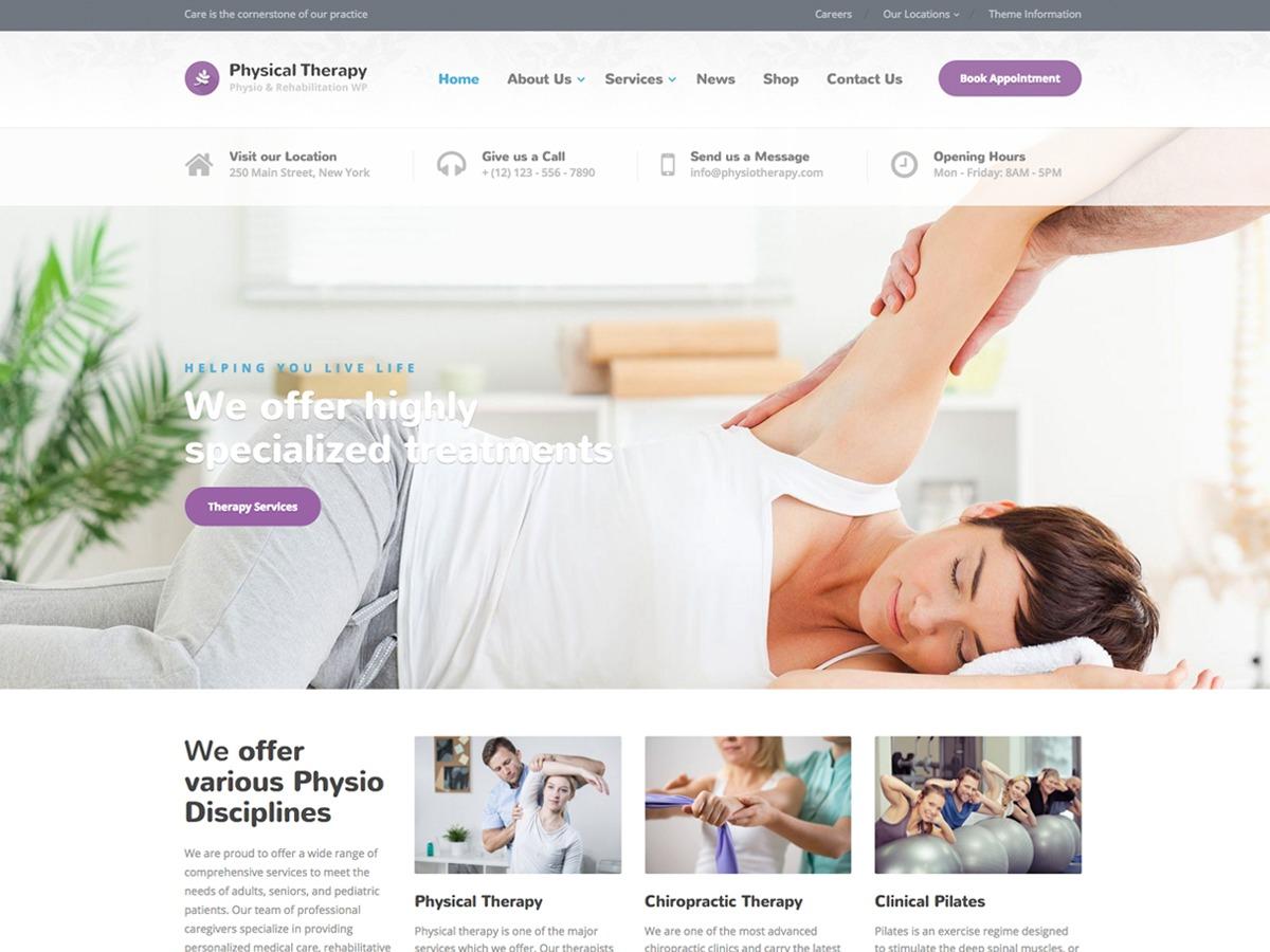 Physio-qt medical WordPress theme