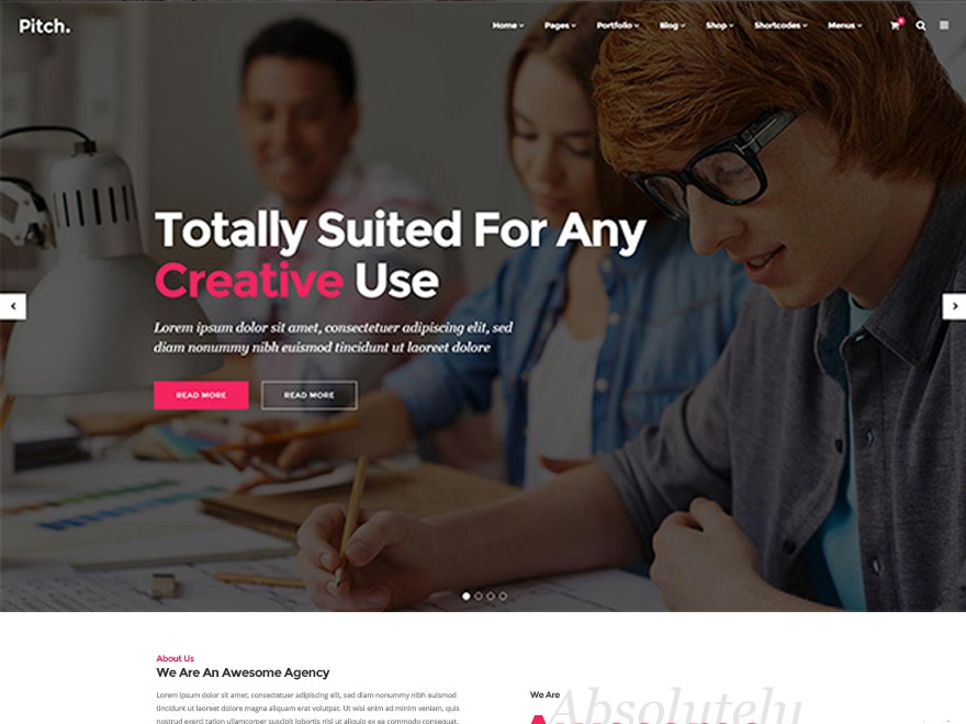 Pitch theme WordPress