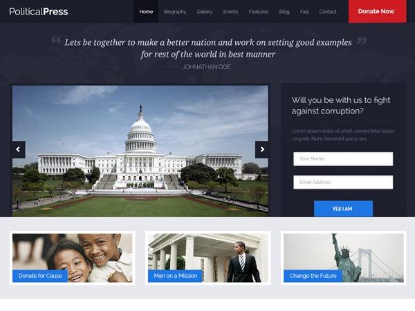 PoliticalPress Theme WordPress theme