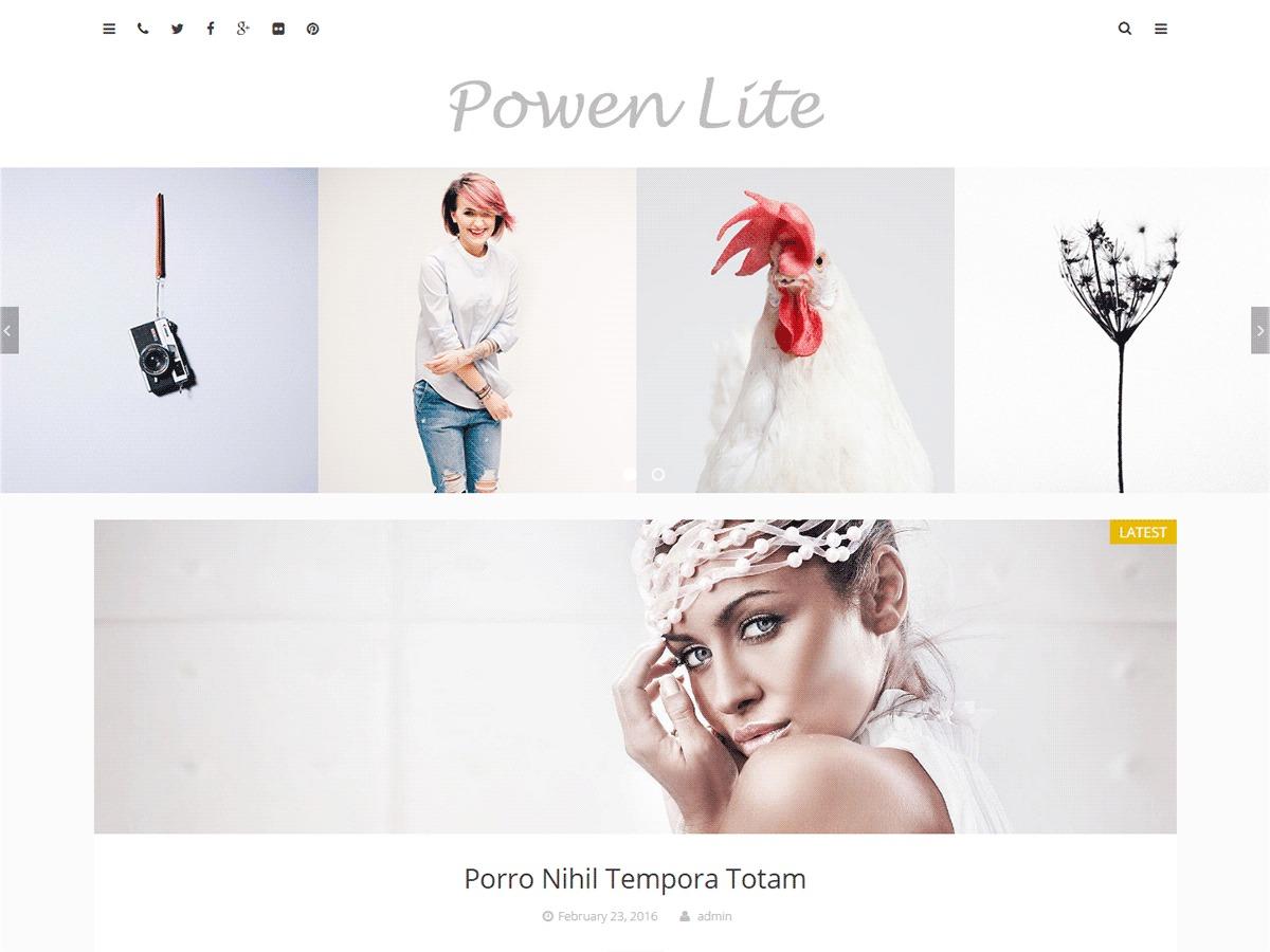 Powen Lite free website theme