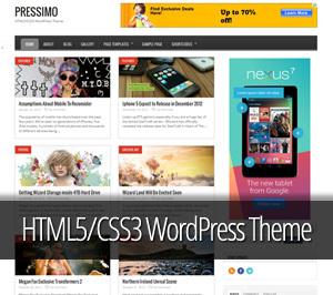 Pressimo best WordPress magazine theme
