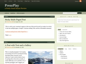 PressPlay top WordPress theme