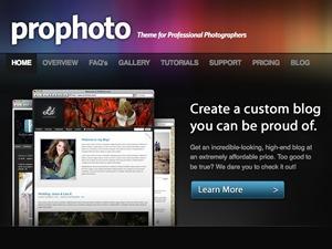 ProPhoto2 wallpapers WordPress theme