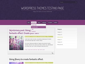 Purple Pro WordPress blog theme