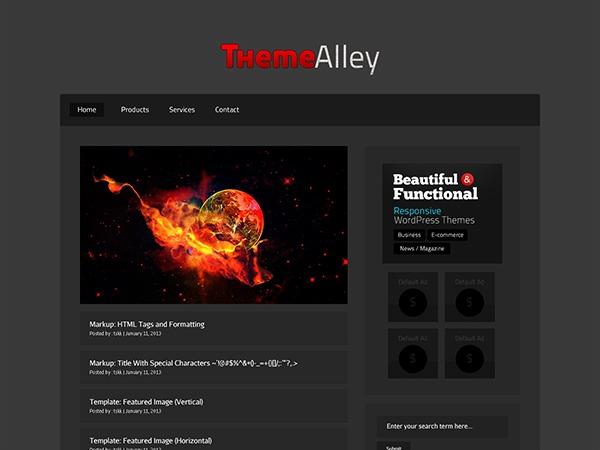 Raven WordPress website template