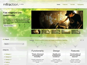 Refraction Wordpress Theme WordPress gallery theme