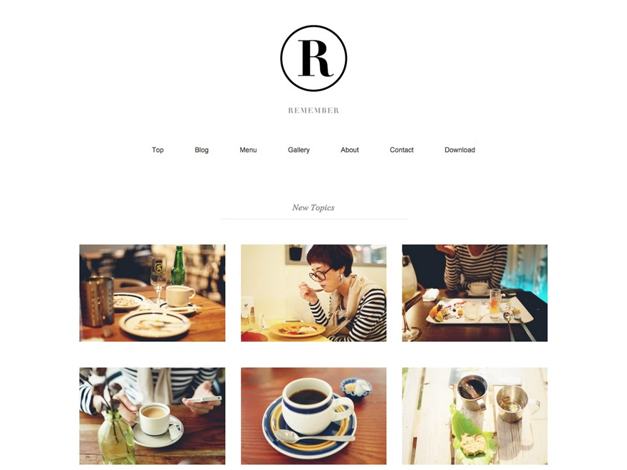 Remember WordPress theme design