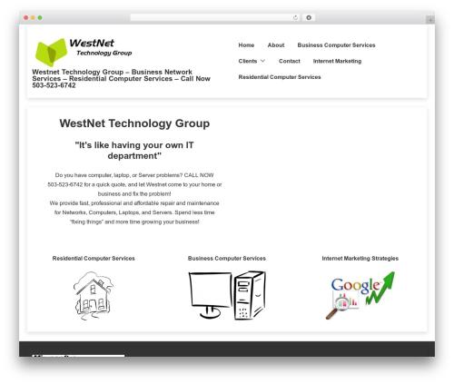 Responsive WordPress theme free download - westnetitgroup.com