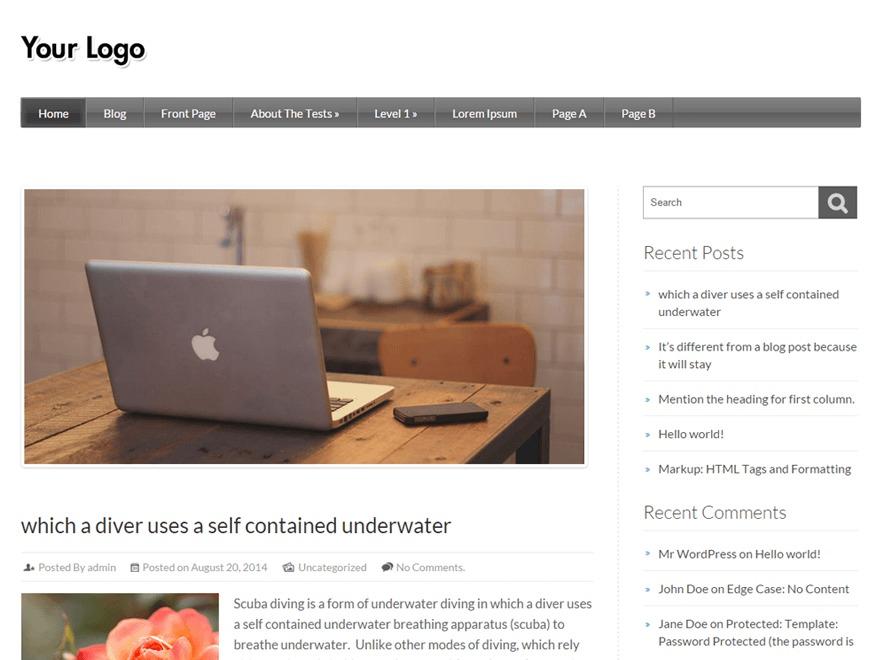 Rethink template WordPress free