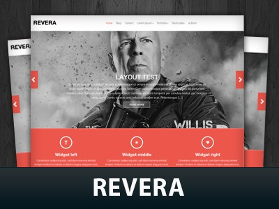 Revera top WordPress theme
