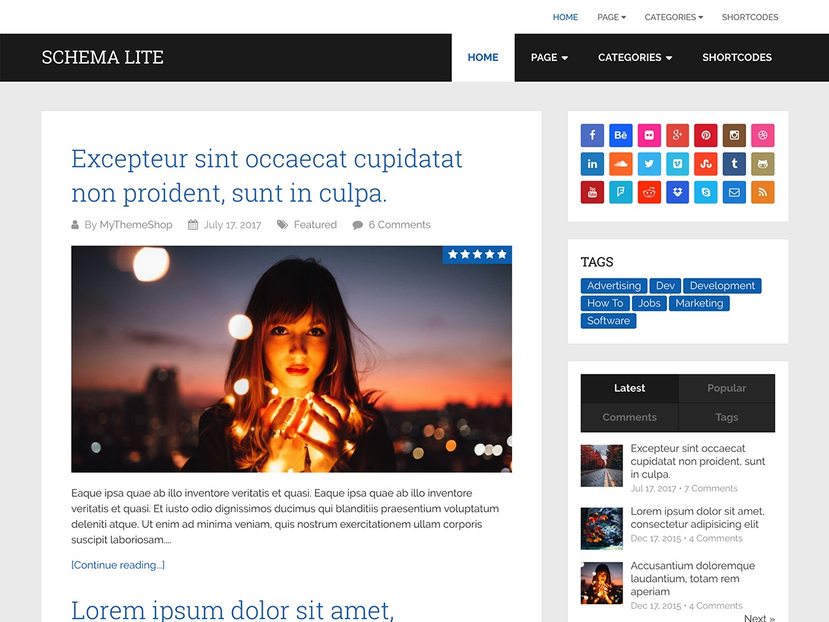 Schema Lite theme WordPress free