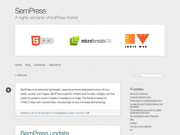 SemPress template WordPress free