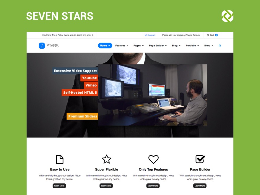 sevenstars WordPress template for business