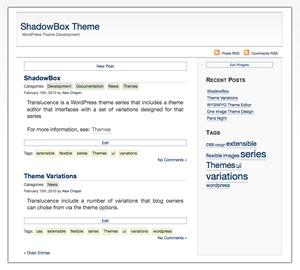 ShadowBox best WordPress template
