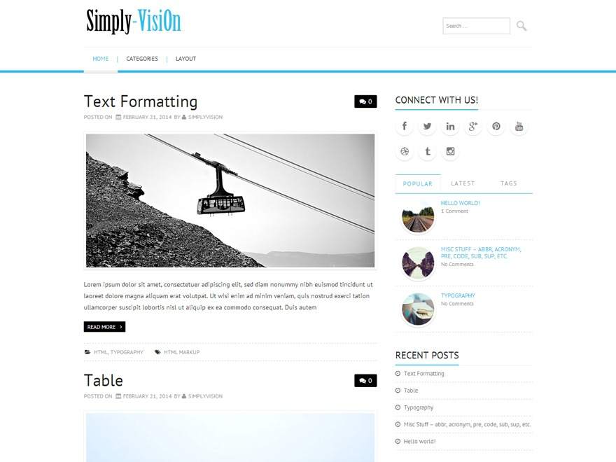 Simply-VisiOn WP theme