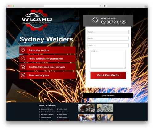 Smart Theme WordPress theme - wizardwelding.com.au