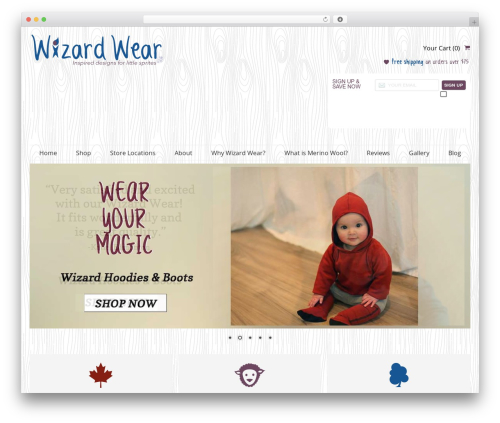SmartShop WordPress store theme - wizardwear.ca