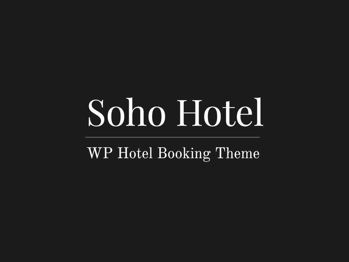 SohoHotel WordPress hotel theme