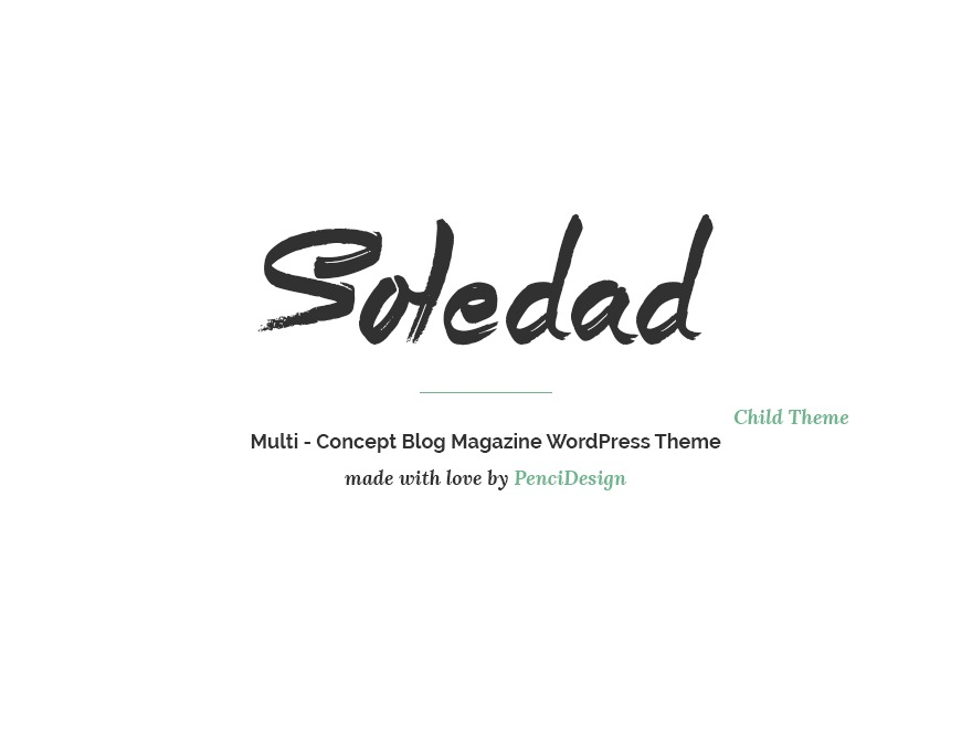 soledad child premium WordPress theme