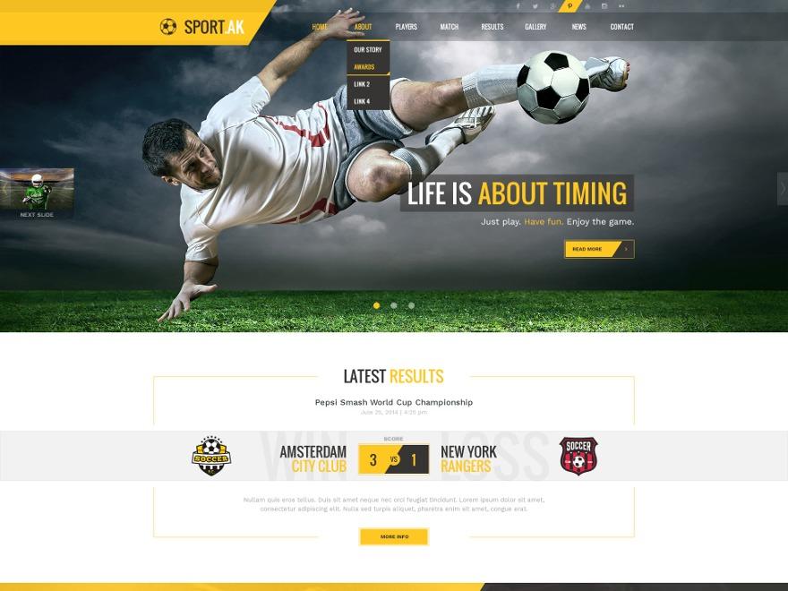 Sport.AK WordPress theme