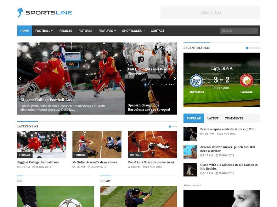sportsline best WordPress magazine theme