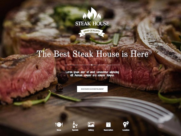 Steakhouse food WordPress theme