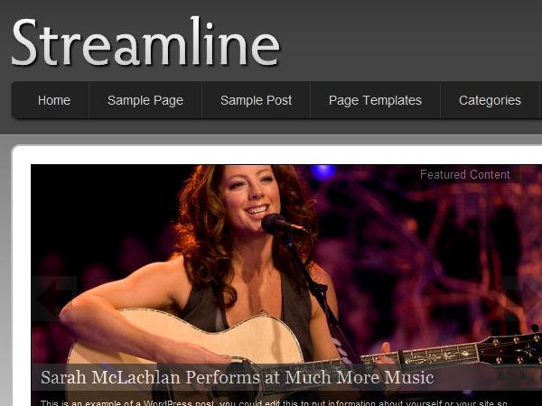 Streamline top WordPress theme