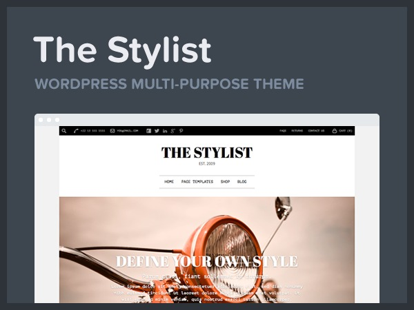 Stylist company WordPress theme