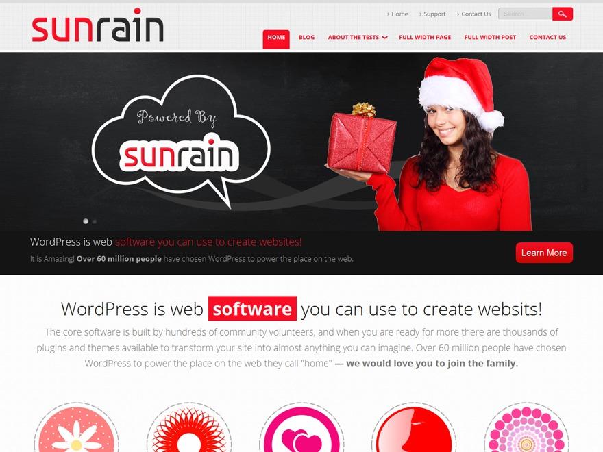 SunRain best free WordPress theme