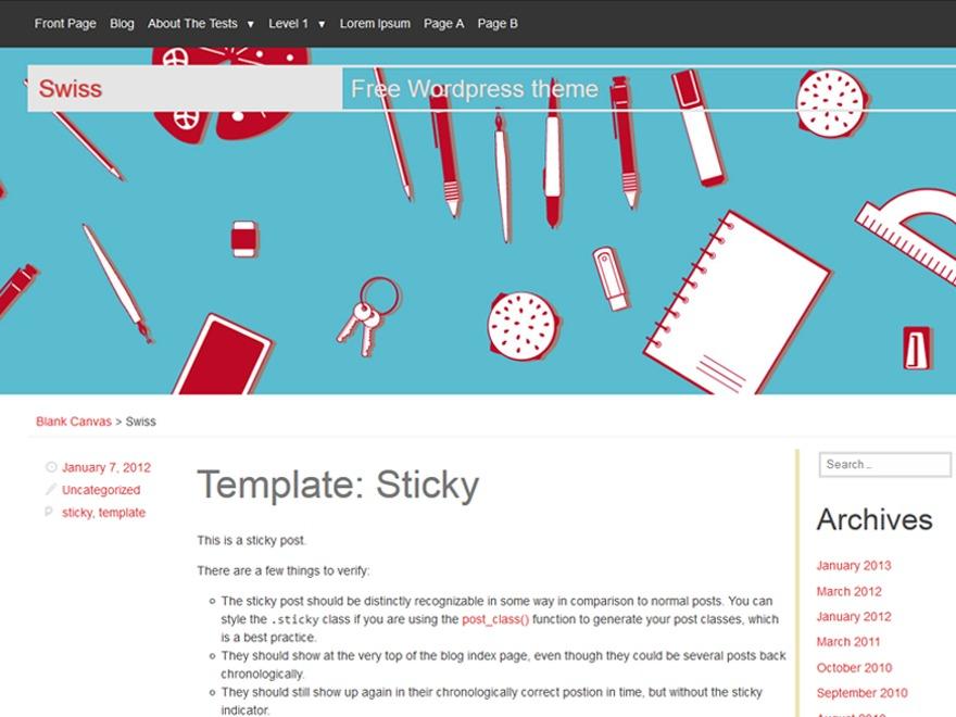 Swiss WordPress theme download