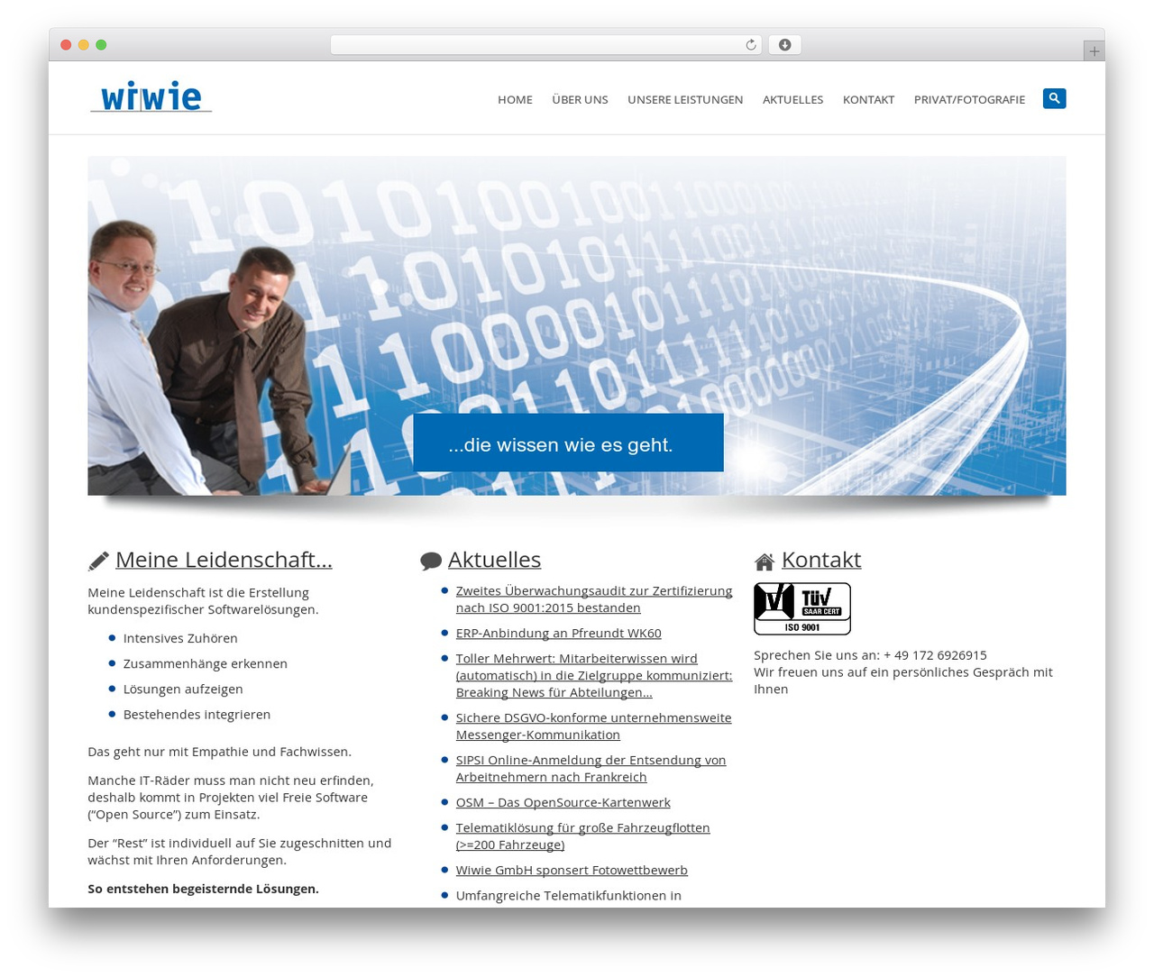 System best WordPress theme - wiwie.de