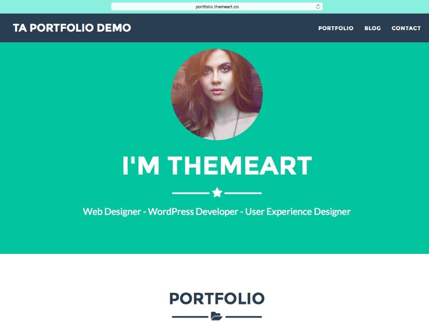 TA Portfolio WordPress portfolio theme