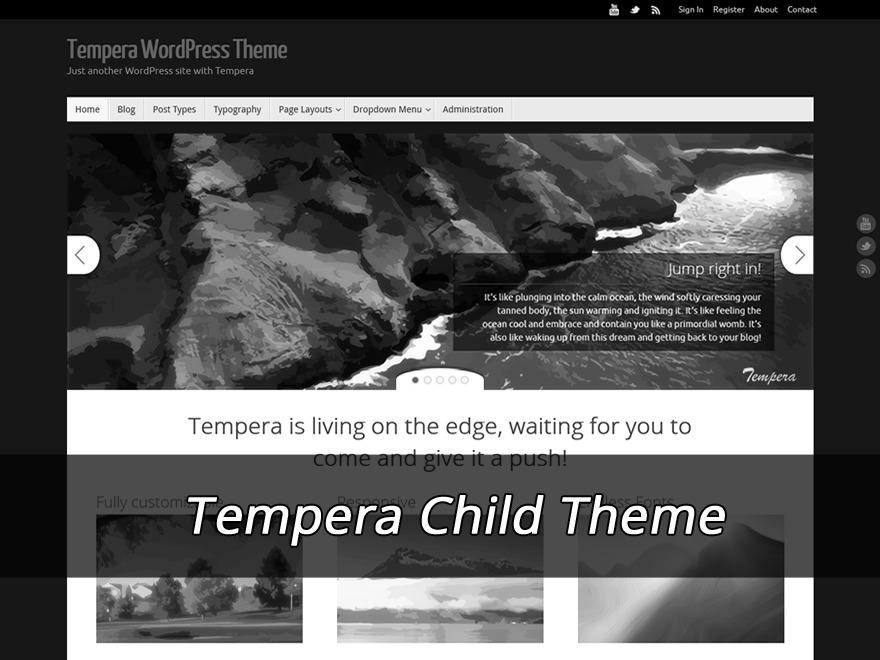 Tempera Child (no copyright link) template WordPress