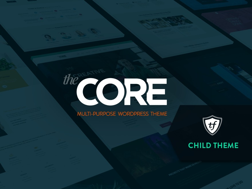 The Core Child WordPress theme