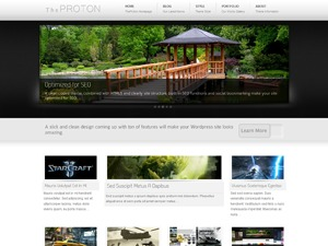 The Proton WordPress template for business