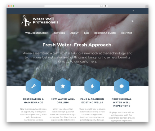 TheFox template WordPress - waterwellprofessionals.com
