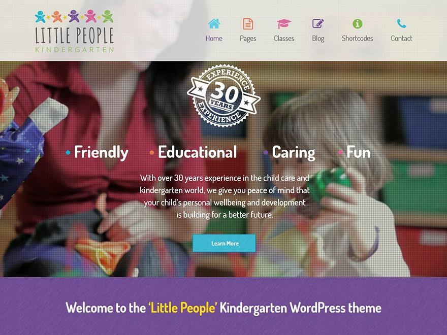 Theme WordPress CMS Kindergarten