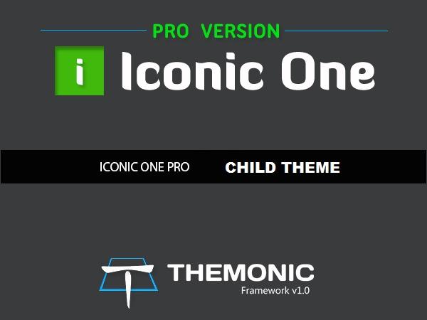 Theme WordPress Iconic One Pro Child