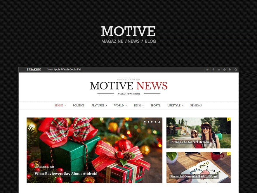 Theme WordPress Motive